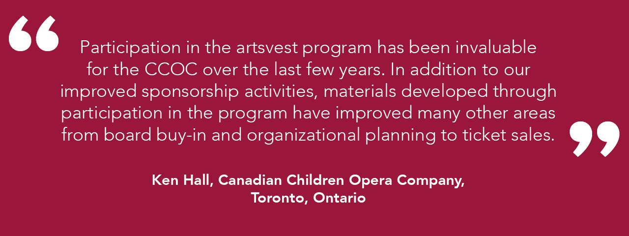 artsvest testimonials – Toronto