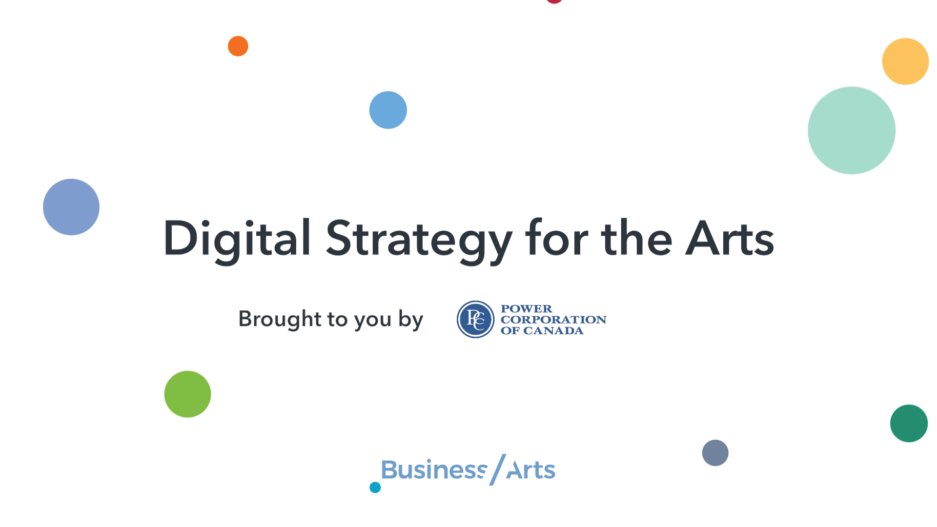 Digital Strategy for the Arts
